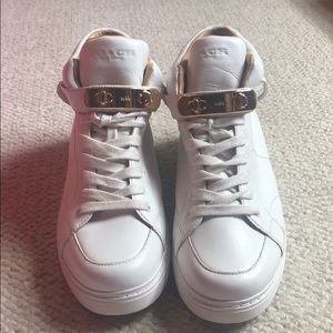 Coach high top sneaker white size 38